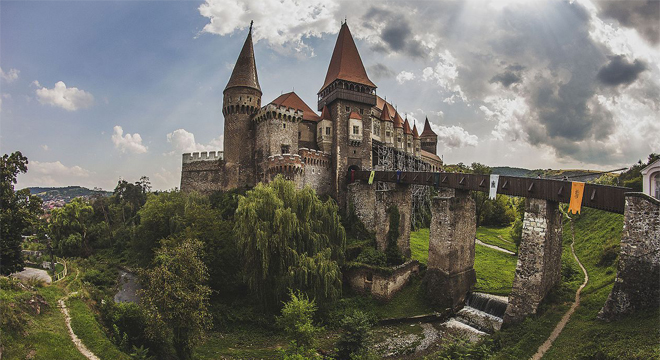 The Dracula's Castle in Romania