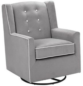 Baby Relax Emmett Button Tufted Upholstered Swivel Glider