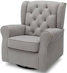 Delta Furniture Emerson Upholstered Glider Swivel Rocker Chair
