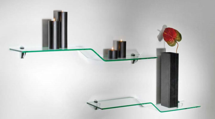 5 Unusual Ideas Of Using Glass Shelves To Make Ordinary Walls Attractive