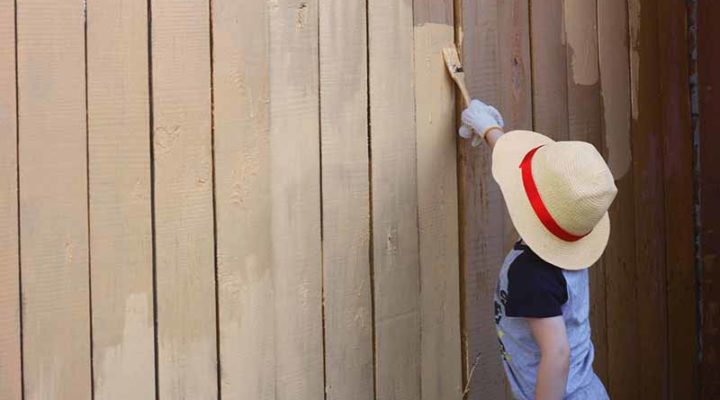 How to Paint Fence Panels with Concrete Posts