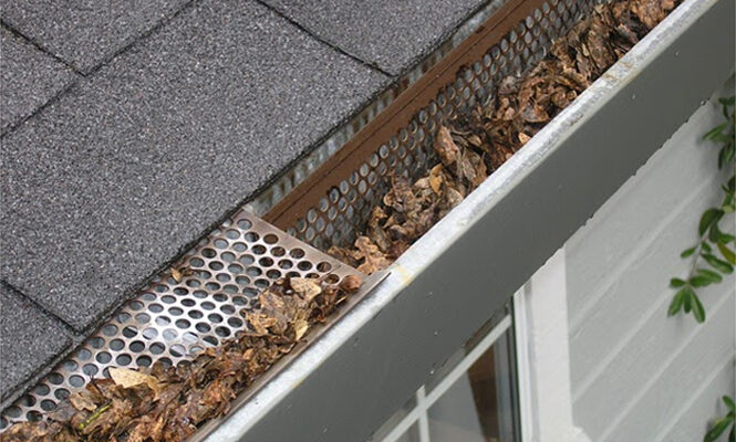 Leaf Protection for the gutter – How to clean rain gutters?